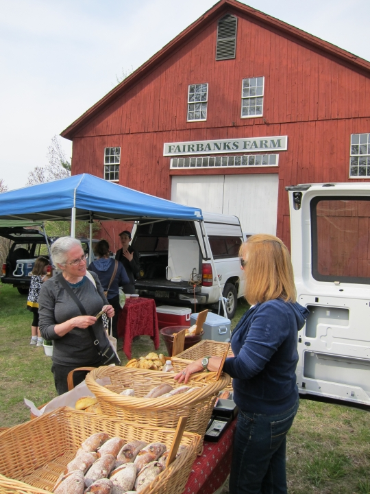 First Farmers' Market at the Red Barn 2011